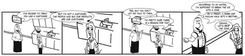 Comic: Internal Customers